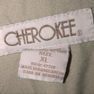 Cherokee Other - Beige overalls with flowers